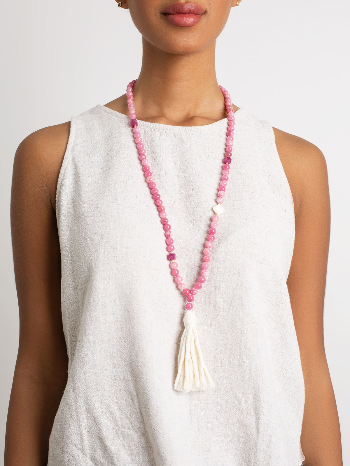Pink Rhombus- Necklace